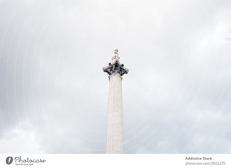 White monumental column on sky Column Monument Landmark London Architecture England Symbols and metaphors Statue Square Sculpture City Pillar Vacation & Travel