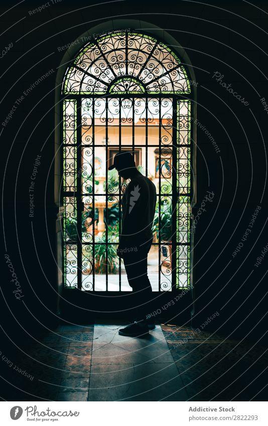 Silhouette standing at the door Man Door Light Human being Beautiful Room doorway Shadow Corridor Black Dark Loneliness Success Stand Mystery Bright Day Earnest