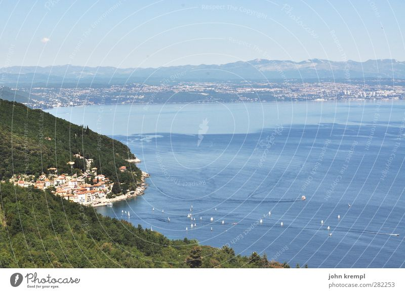 Moscenicka Draga Vacation & Travel Summer vacation Ocean Aquatics Sailing Environment Landscape Hill Waves Coast Bay Rijeka Croatia Istria Fishing village