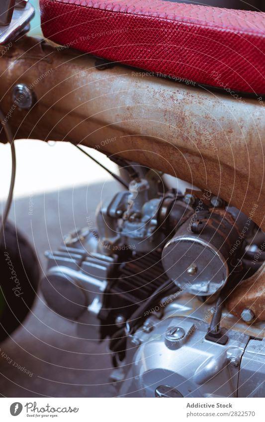 Close-up motorcycle engine Engines Motorcycle Workshop Transport Vehicle Garage custom repair shop Repair Professional Machinery Maintenance Motocross racing