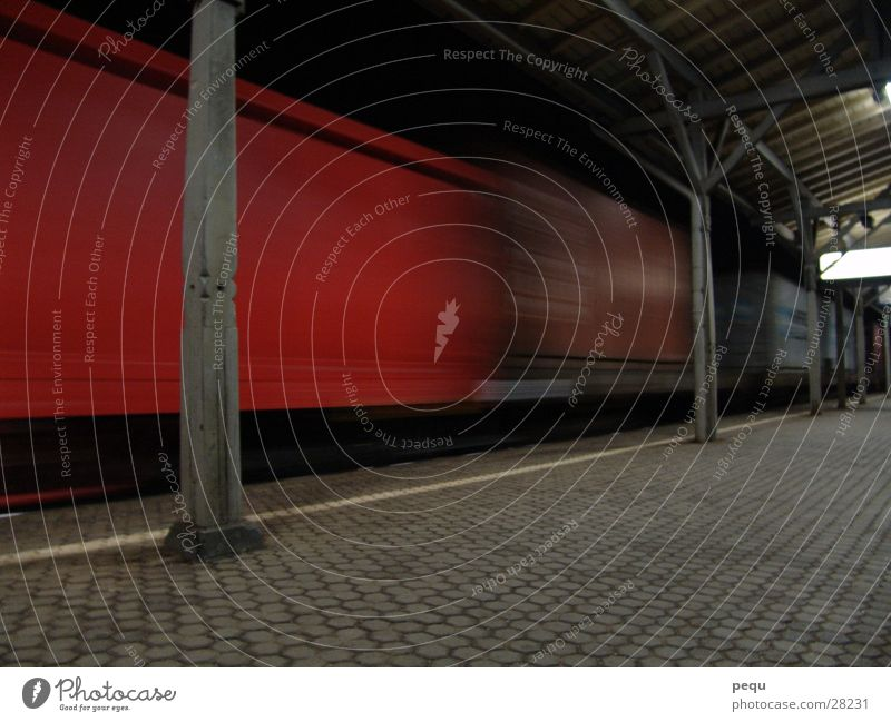Red Dark Transport Railroad Driving Train station