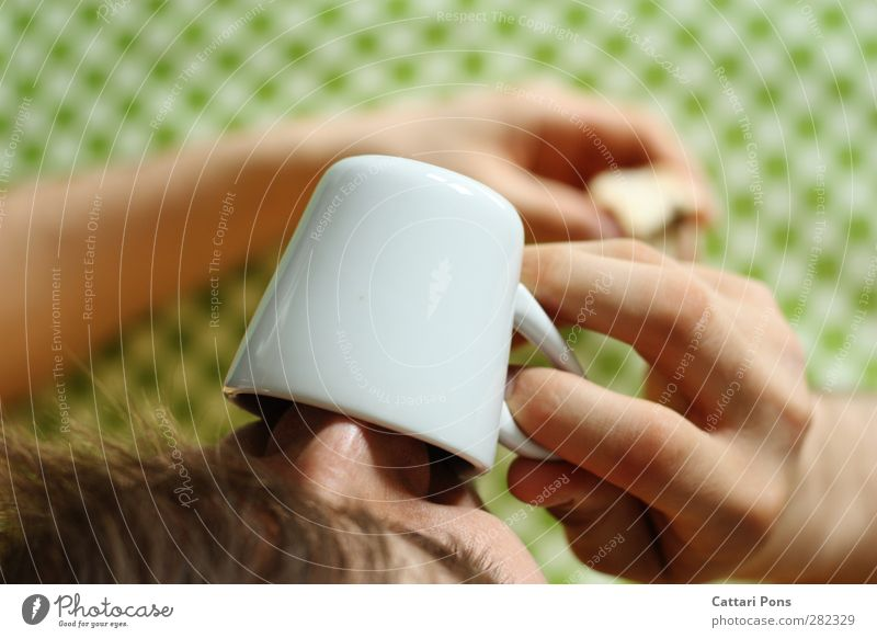 Mocha in the morning Breakfast To have a coffee Beverage Drinking Hot drink Espresso Crockery Cup Masculine 1 Human being To hold on Bright Delicious Porcelain