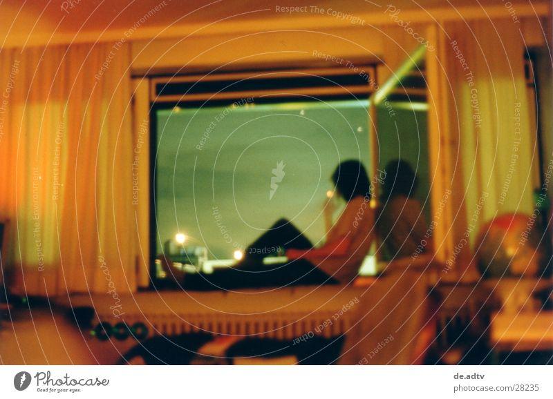 Man Sky Blue Calm Clouds Loneliness Relaxation Window Freedom Room Orange Vantage point Smoking Globe Drape