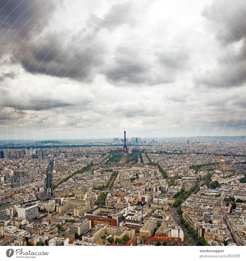 Paris City Clouds Architecture Tower Paris France Aircraft French Eiffel Tower