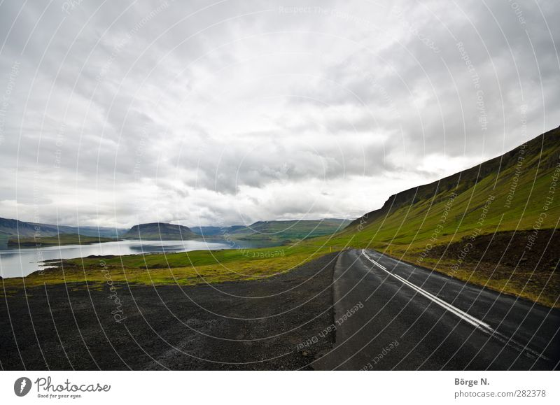 Sky Nature Vacation & Travel Clouds Landscape Far-off places Street Exceptional Hill Fantastic Traffic infrastructure Iceland Fjord
