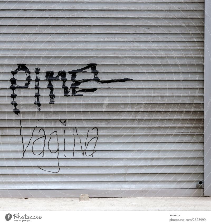 Pimel Vagina Roller shutter Characters Sex Sexuality Penis Puberty Gender Graffiti Sex drive Colour photo Exterior shot Structures and shapes Deserted