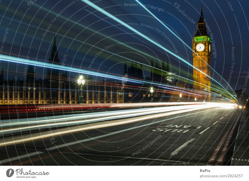 Evening on the Westminster Bridge. Vacation & Travel Tourism Sightseeing City trip Economy Architecture Environment Landscape Sky Night sky Climate
