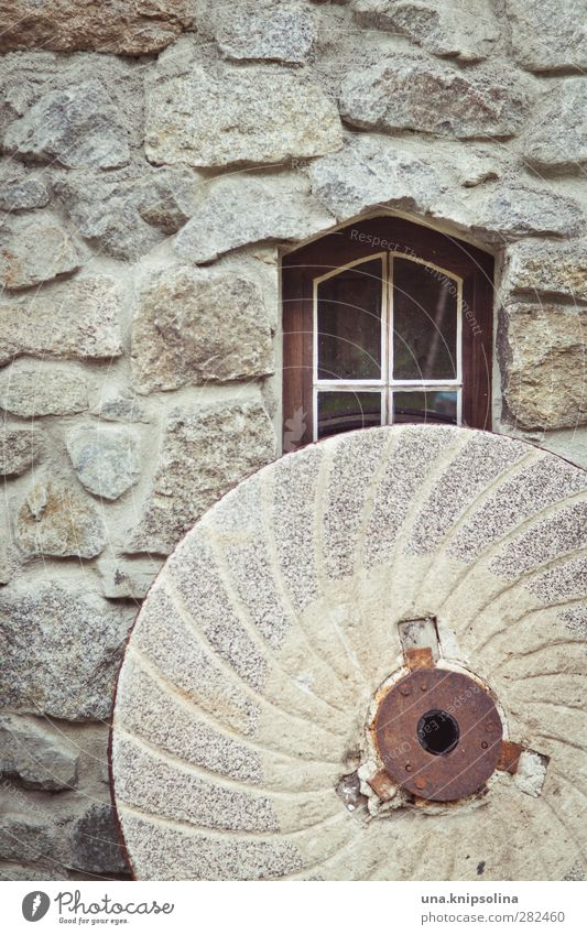 Window Wall (building) Wall (barrier) Facade Round Manmade structures Historic Flour Mill Mince Stone wall Millstone
