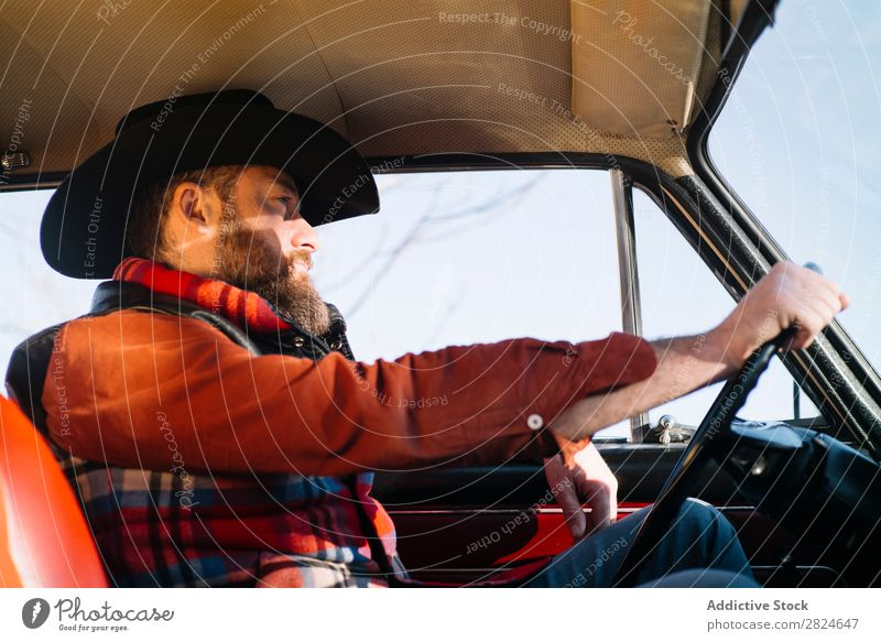 Man driving vintage car Car Vintage Retro White Vehicle Classic Old Adults Vacation & Travel Human being Transport Drive Elegant Antique Nostalgia Driver