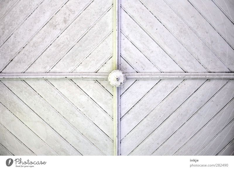 Worm's-eye view V Deserted Manmade structures Facade Ceiling Wooden ceiling Ornament Crucifix Line Stripe Above White Middle Cross Diagonal Vertical Length