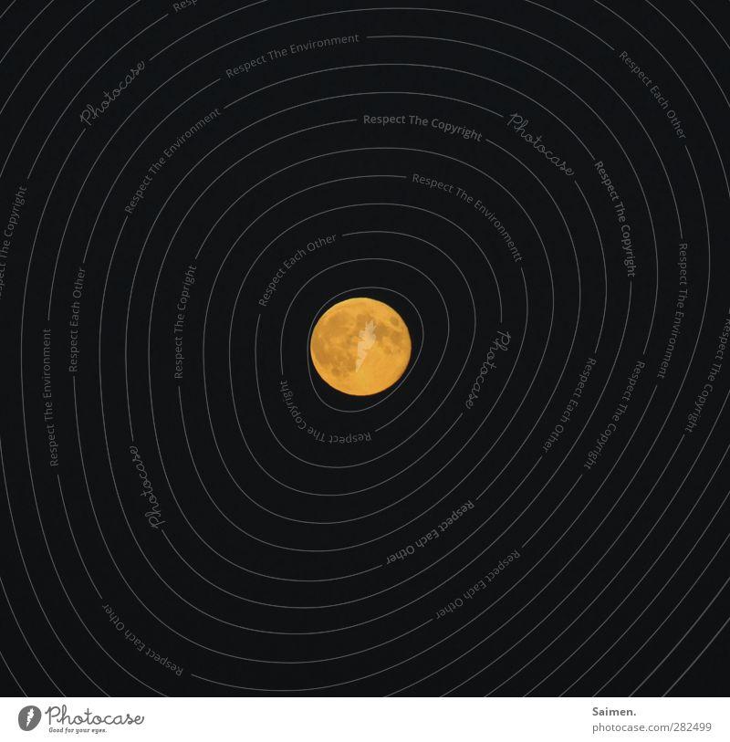Sky Nature Yellow Dark Illuminate Universe Moon Night sky Full  moon