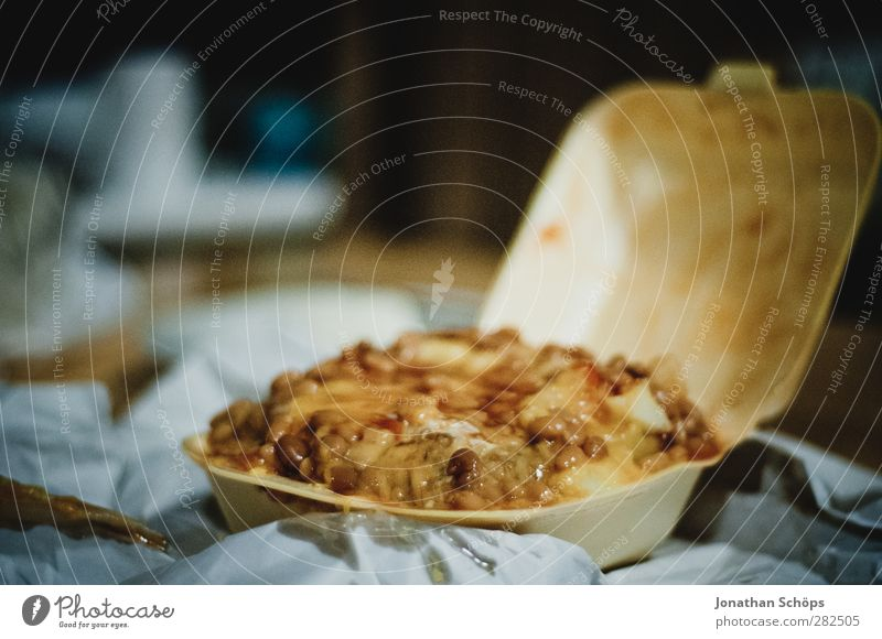 Food Nutrition Appetite To feed Dinner Food photograph Fat Lunch Disgust Carton Full Comfortable Fast food Potatoes Avaricious Slimy