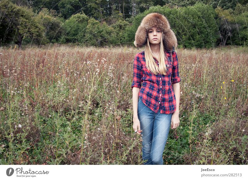 Nature Youth (Young adults) Beautiful Loneliness Forest Young woman Life Freedom Style Dream Field Natural Blonde Power Contentment Authentic