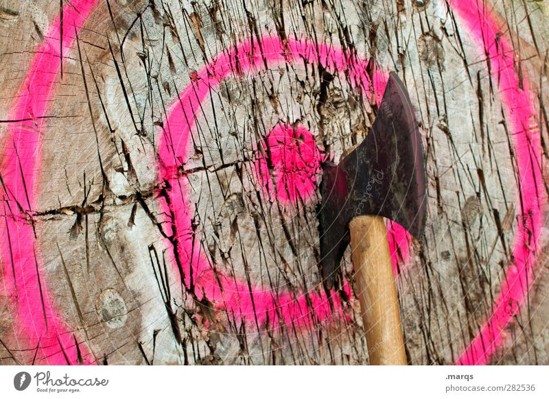 target Success Axe Wood Sign Exceptional Whimsical Target Future Vikings Force Objective achievement Chance Willpower Strike Signs and labeling Colour photo