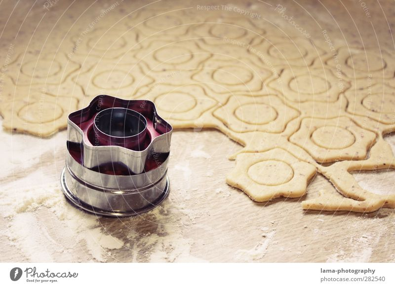 Christmas & Advent Cooking & Baking Stars Sweet Star (Symbol) Delicious Baked goods Dough Raw Cookie Christmas biscuit Christmas star Christmas decoration Feasts & Celebrations Optimal cookie cutter
