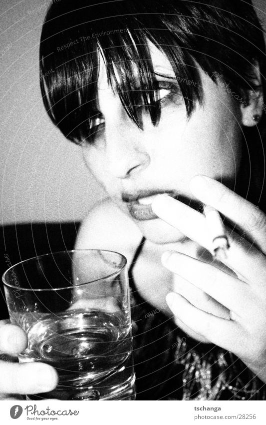 drunken_3 Alcohol-fueled Party Night life Drinking Cigarette Parquet floor Intoxicant Antisocial Make-up Fat Evening dress Chic Overexposure Portrait photograph