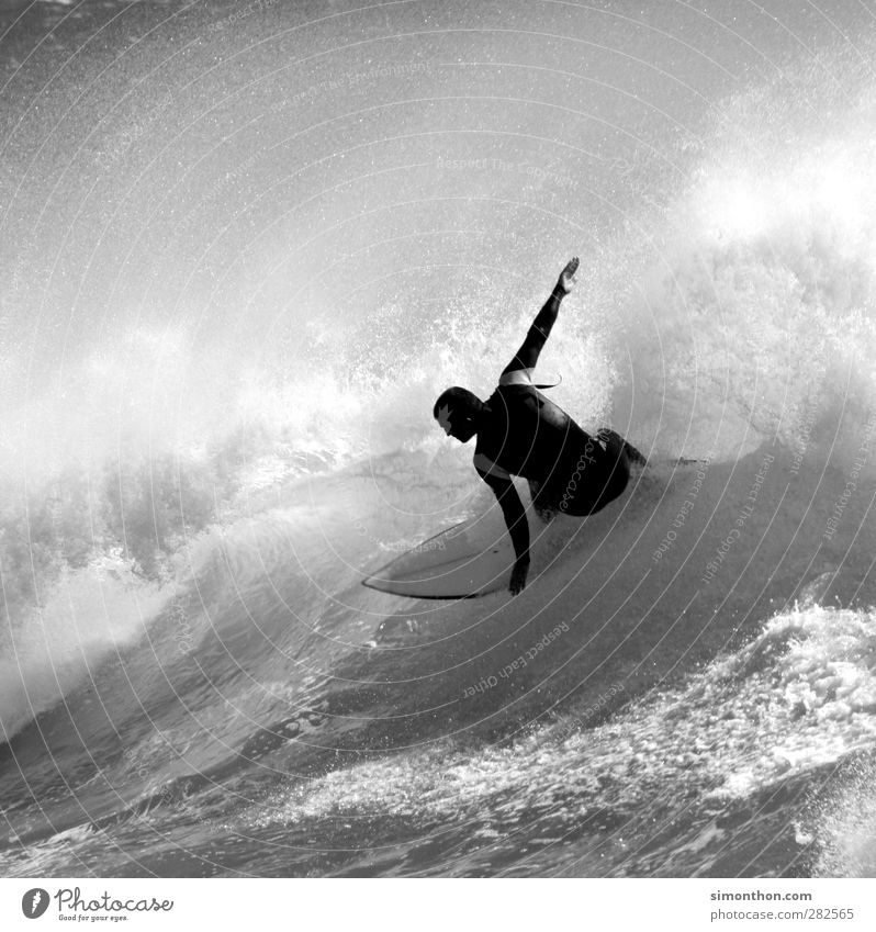 surfer Athletic Fitness Vacation & Travel Far-off places Freedom Summer Sun Ocean Waves Sports Aquatics Masculine 1 Human being Infinity Surfing Surfer