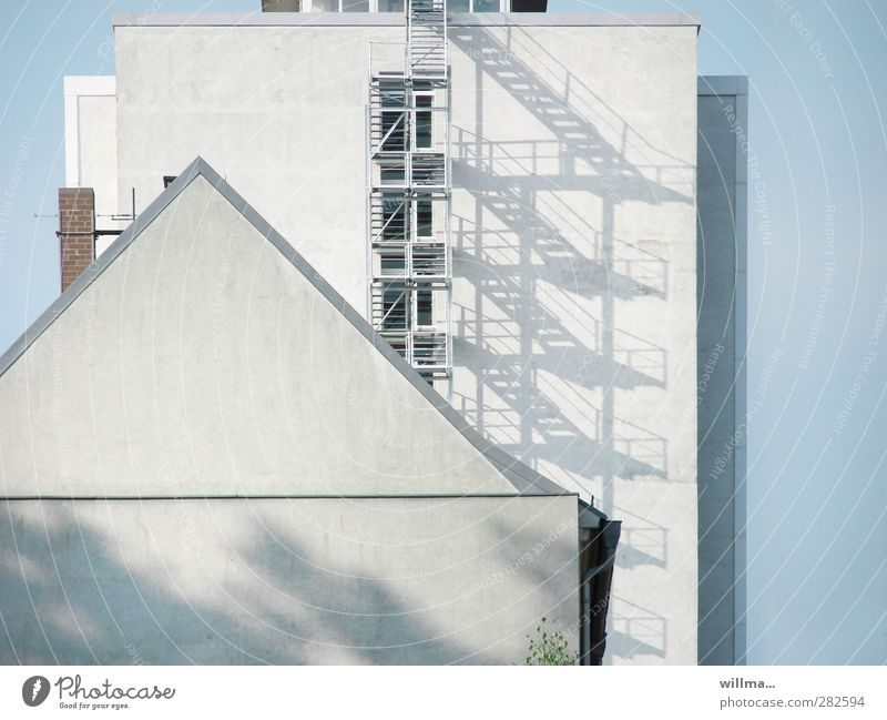 FACADE COMPETITION House (Residential Structure) High-rise Manmade structures Building Architecture Stairs Facade Window Chimney External Staircase Pointed roof