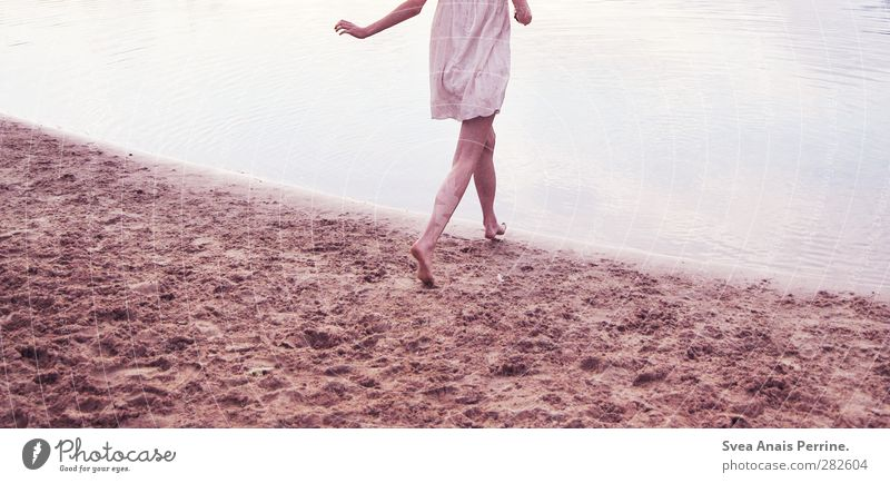 Human being Nature Youth (Young adults) Water Summer Adults Environment Cold Young woman Feminine Life Sand Legs 18 - 30 years Natural Contentment