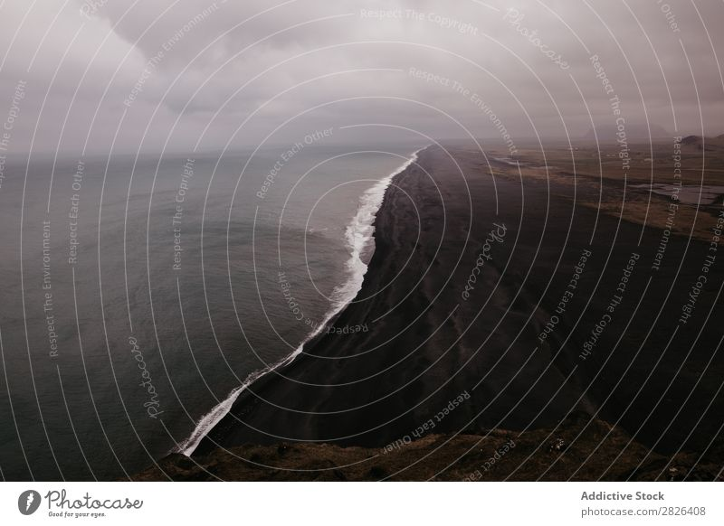 Current boundary in ocean Ocean Iceland Height Landscape Coast Vantage point Boundary scenery Extreme Adventure Perspective Top Nature Mountain Horizon