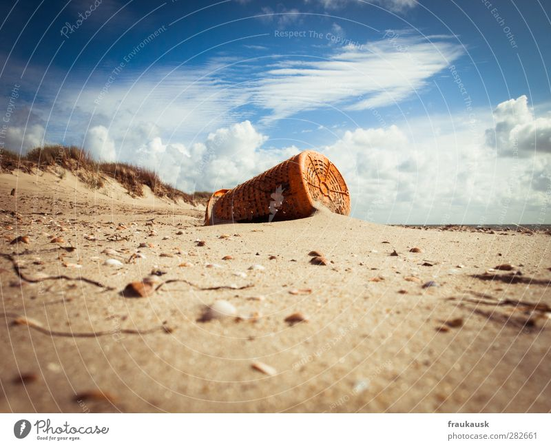 flotsam and jetsam Vacation & Travel Far-off places Summer Summer vacation Beach Ocean Island Environment Landscape Sand Clouds Coast North Sea Fohr