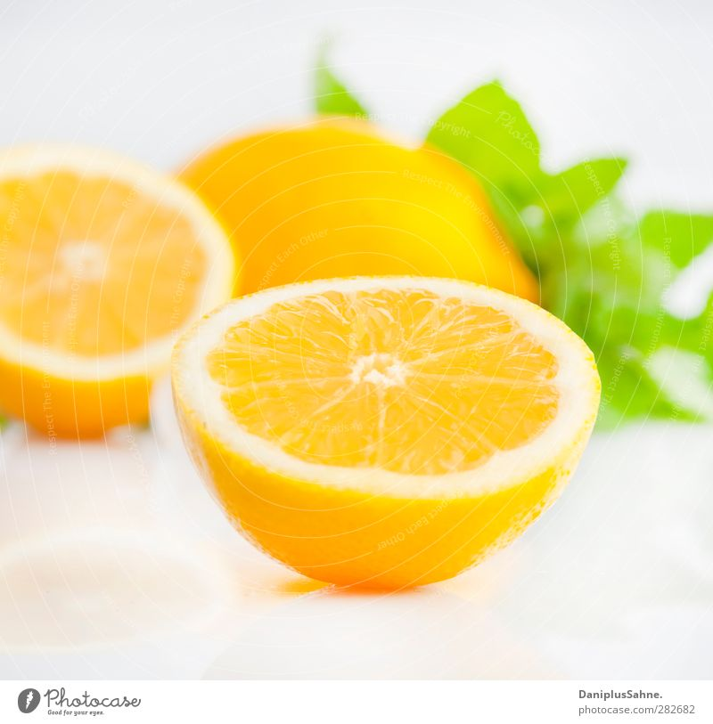 citrus fruits Food Fruit Orange Vegetarian diet Fresh Healthy Yellow Green Citrus fruits Fruity Colour photo Studio shot High-key