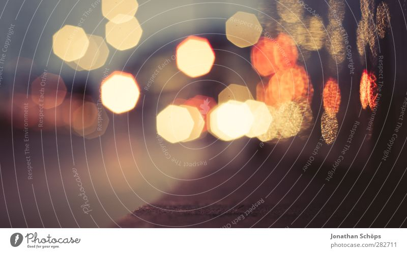 urban Bokeh III Night life Shallow depth of field Blur Light Light (Natural Phenomenon) Sea of light Town Multicoloured Background picture Lighting Abstract