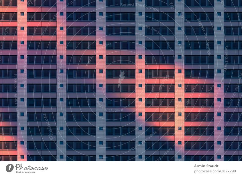 Façade pattern at night Lifestyle Style Design Living or residing Flat (apartment) Office Factory Business Downtown Facade Concrete Threat Infinity Moody