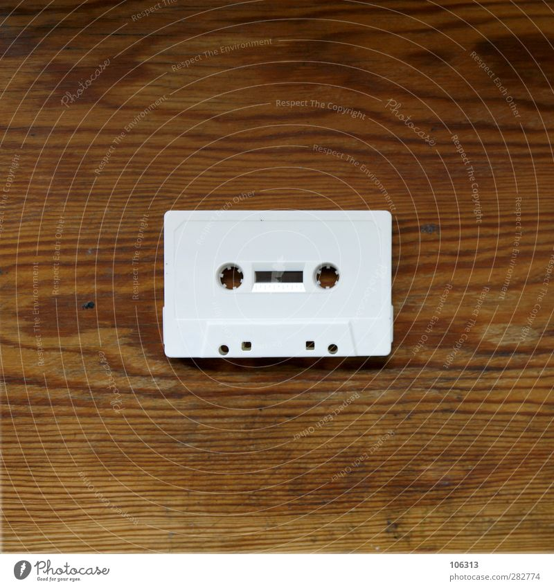 White Music Technology Retro Plastic Mysterious Media Past Analog Radio (broadcasting) Audio tape Remainder Chic Tape cassette Pencil Format