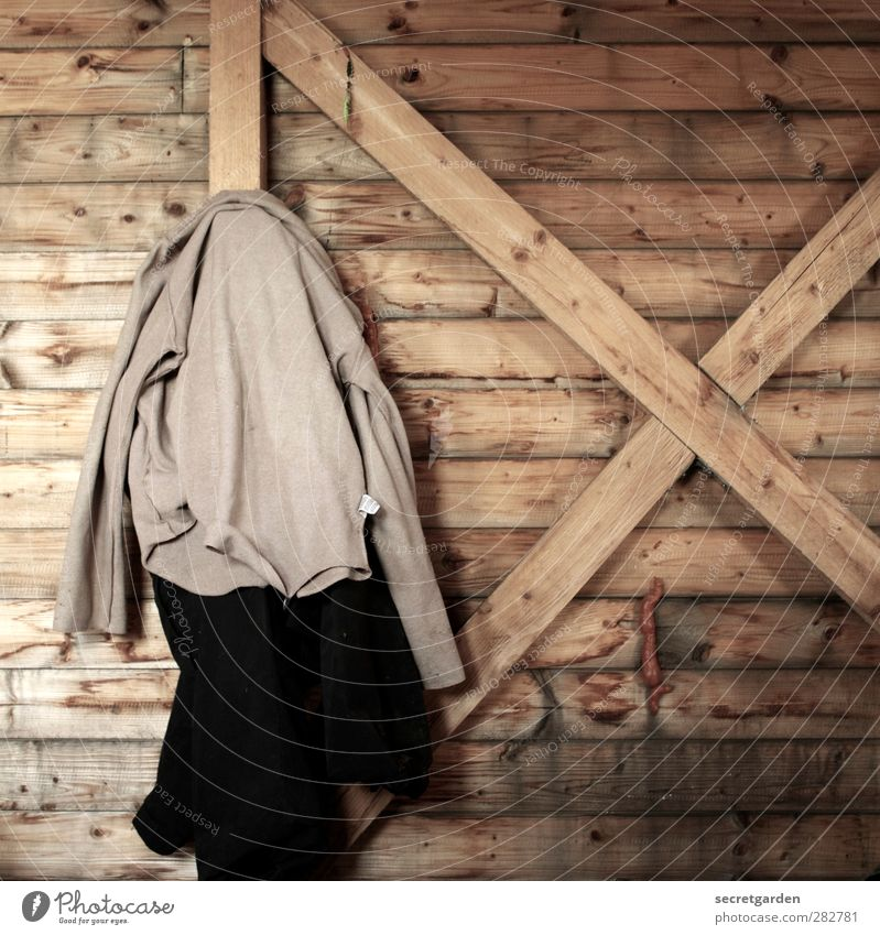Black Wood Brown Room Clothing Break Construction site Simple Pants Hut Crucifix Jacket Fragrance Hang