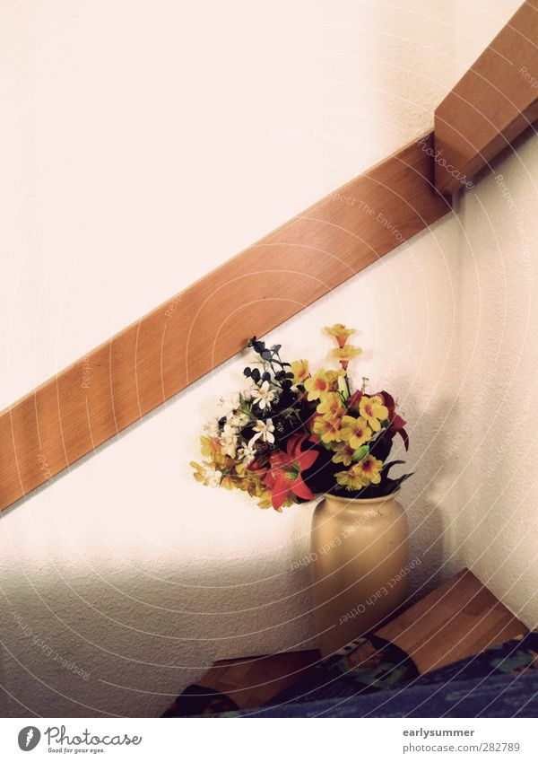 Old Summer Flower House (Residential Structure) Senior citizen Wood Interior design Flat (apartment) Stairs Design Living or residing Decoration Retro Kitsch Grandmother Bouquet