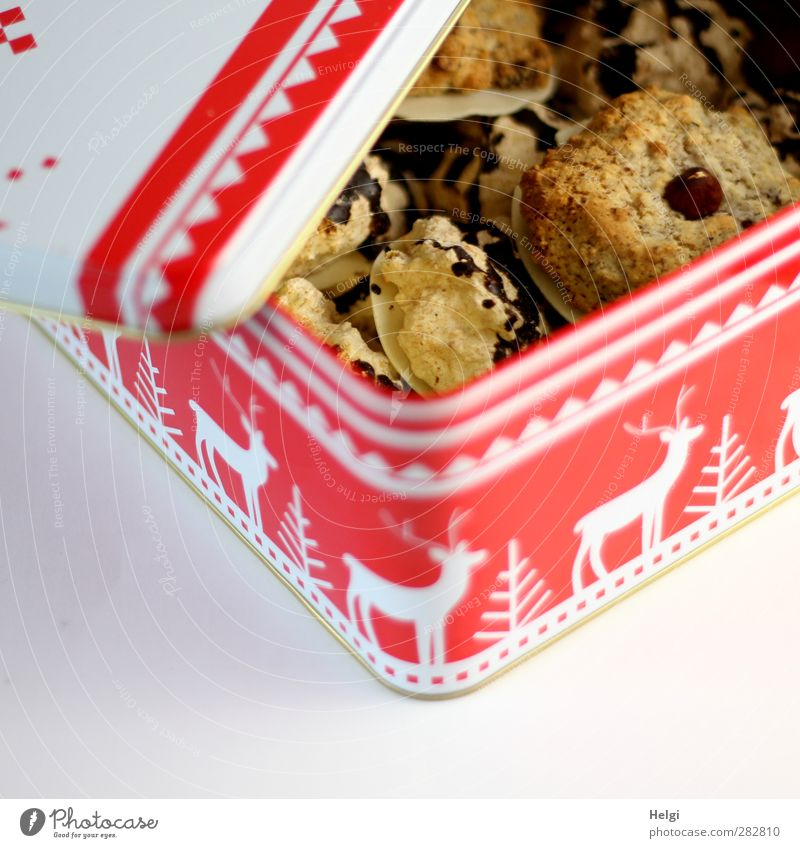 Delicious for Fotoline... Food Dough Baked goods Candy Chocolate Nutrition To have a coffee Cookie Tin Cookie tin Decoration Metal Eating Lie Esthetic Fragrance