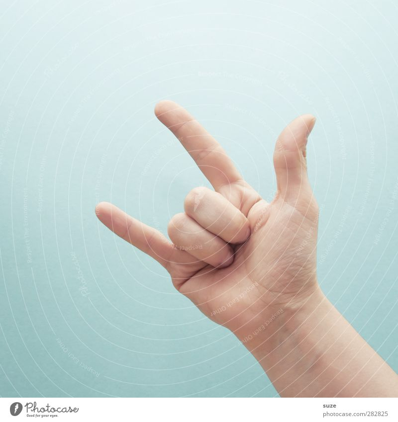 Hand Love Bright Music Arm Skin Fingers Communicate Cool (slang) Simple Sign European Hip & trendy Gesture Thumb Light blue