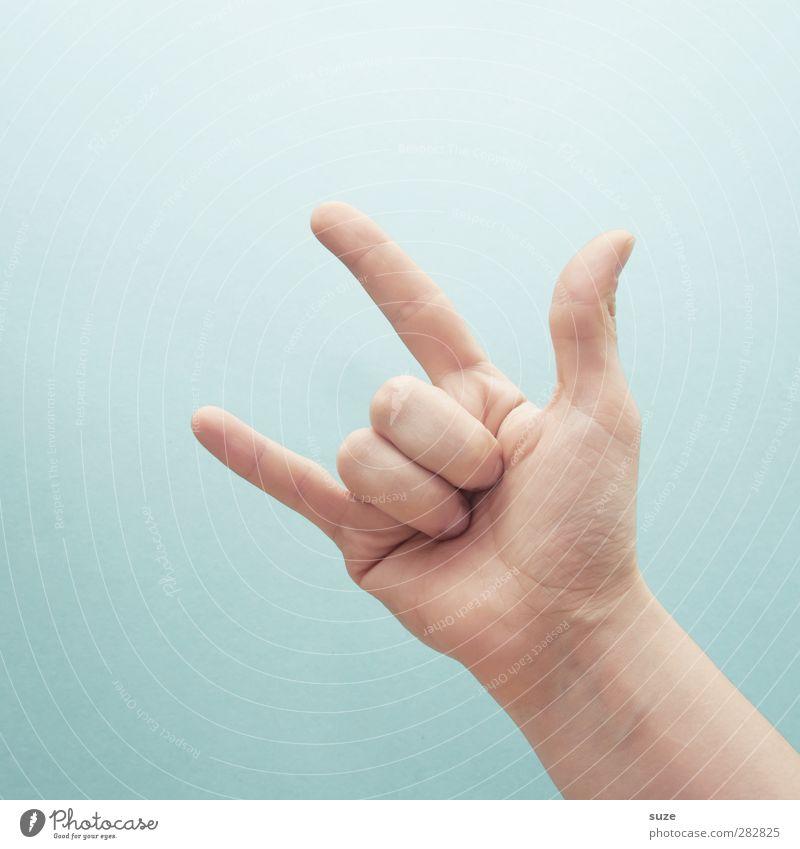 Hand Love Bright Music Arm Skin Fingers Communicate Cool (slang) Simple Sign European Hip & trendy Gesture Thumb Light blue