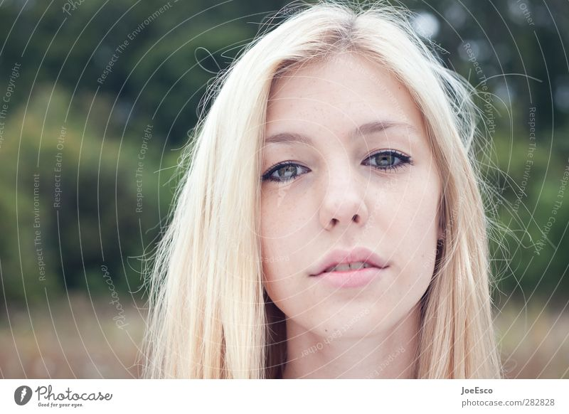 #242063 Style Beautiful Young woman Youth (Young adults) Woman Adults Face Nature Blonde Observe Think Looking Dream Authentic Cool (slang) Free Friendliness