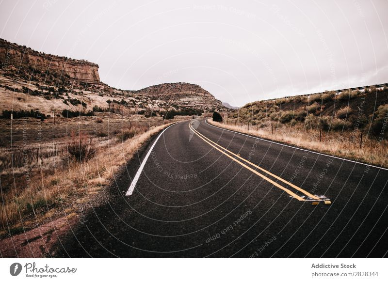 Deserted road Street Mountain Background picture Vacation & Travel Asphalt Sky Beautiful Landscape Nature Summer Natural Vantage point Seasons Tree Tourism