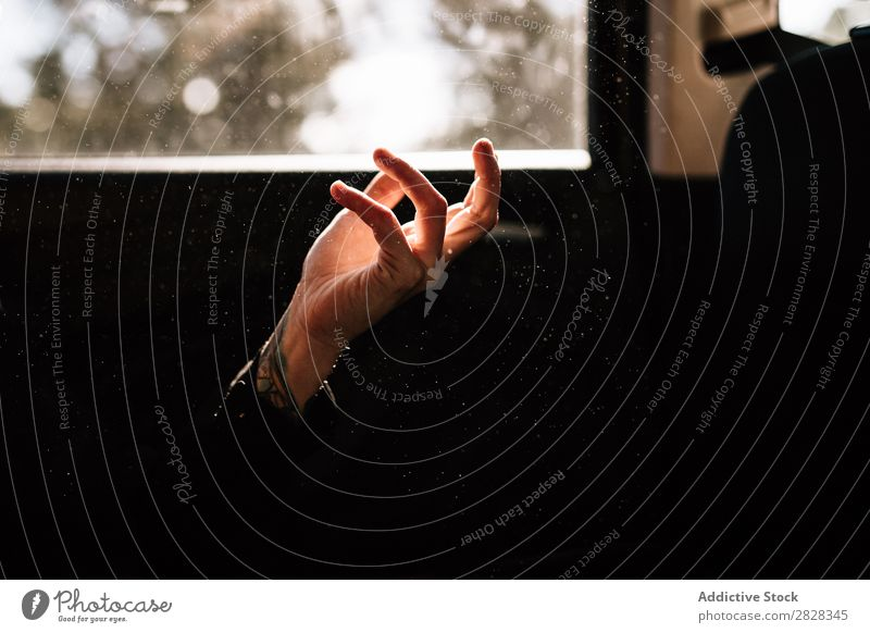 Close-up of a hand Isolated Hand Black Background picture Woman Human being Conceptual design