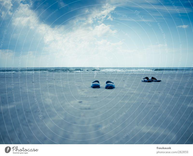 Sky Blue Vacation & Travel Water Summer Ocean Joy Beach Clouds Landscape Coast Happy Sand Horizon Swimming & Bathing Waves