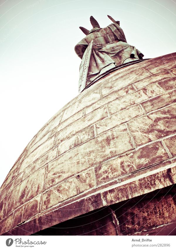 Hermann monument Sightseeing Manmade structures Tourist Attraction Landmark Monument Arminius monument Large Cold Colour photo Exterior shot Day Worm's-eye view