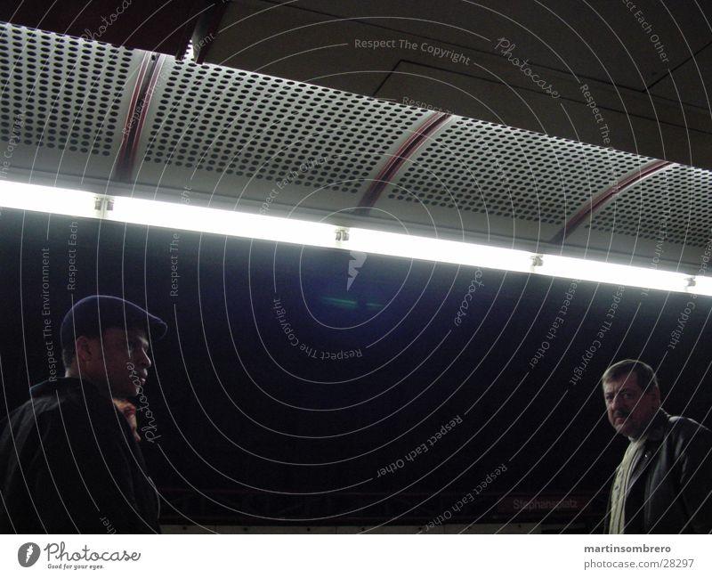 Dark Group Mysterious Underground Neon light Vienna In transit