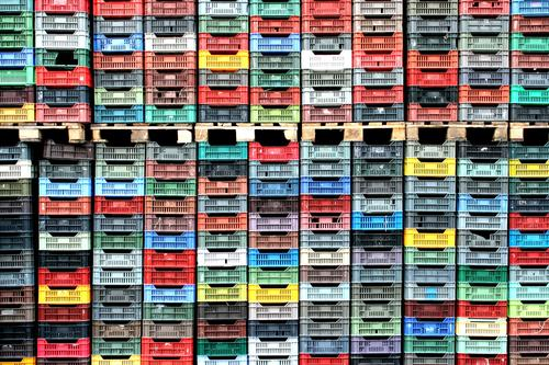 vegetable crates Economy Agriculture Forestry Box Plastic Blue Brown Multicoloured Yellow Gray Green Red Black White Logistics Crate vegetable box Palett Many