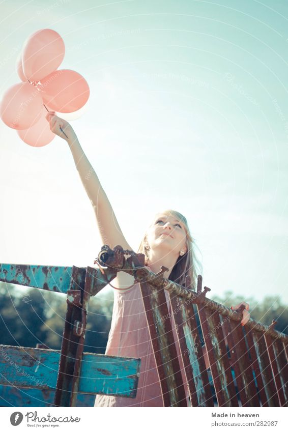 Feminine Life Happy Future Warm-heartedness Hope Balloon Desire Infinity Discover Surprise