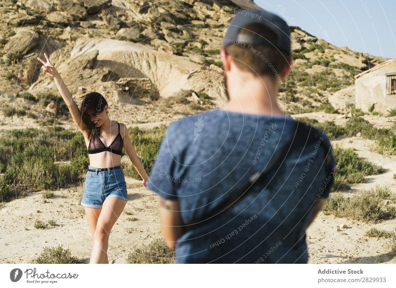 Photographer taking shots of woman Woman Posture Nature two fingers Gesture shooting Camera Youth (Young adults) Beautiful Human being Summer pretty Sunbeam