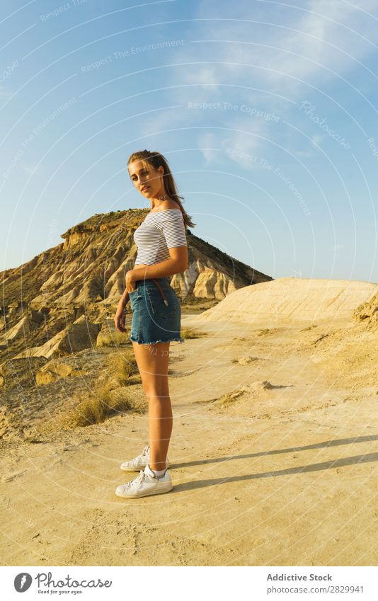 Pretty woman on cliff Woman Cliff pretty Youth (Young adults) Posture Beautiful Girl Nature Human being Lifestyle Vacation & Travel Rock Freedom Lady Action