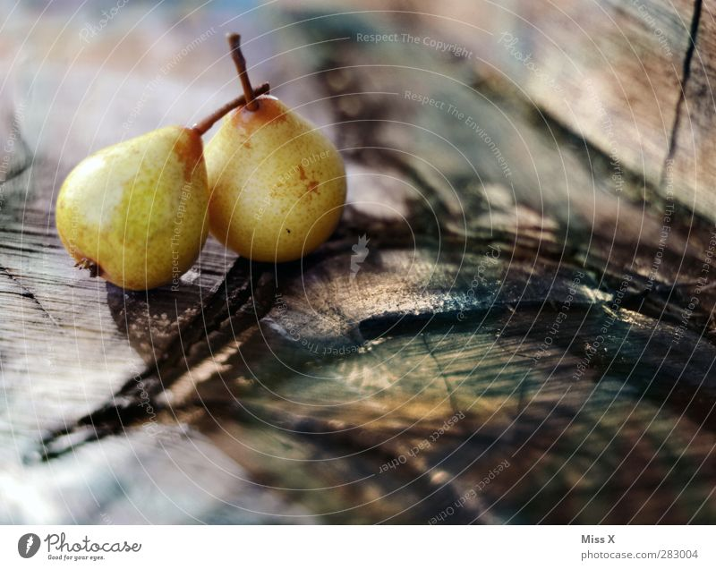 pears Food Fruit Nutrition Organic produce Fresh Healthy Delicious Juicy Sweet 2 Wood Tree trunk Annual ring Still Life Pear Autumn Colour photo