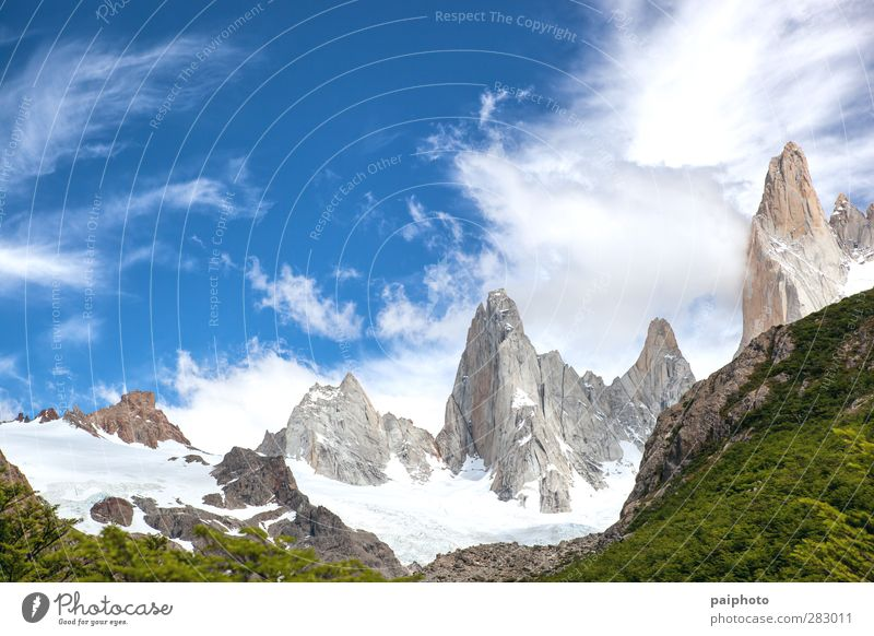 majestic mountains Adventure Argentina Blue Chile Clouds Forest good climate good weather Green Mountain Nature Exterior shot Park Patagonia Pristine Pure