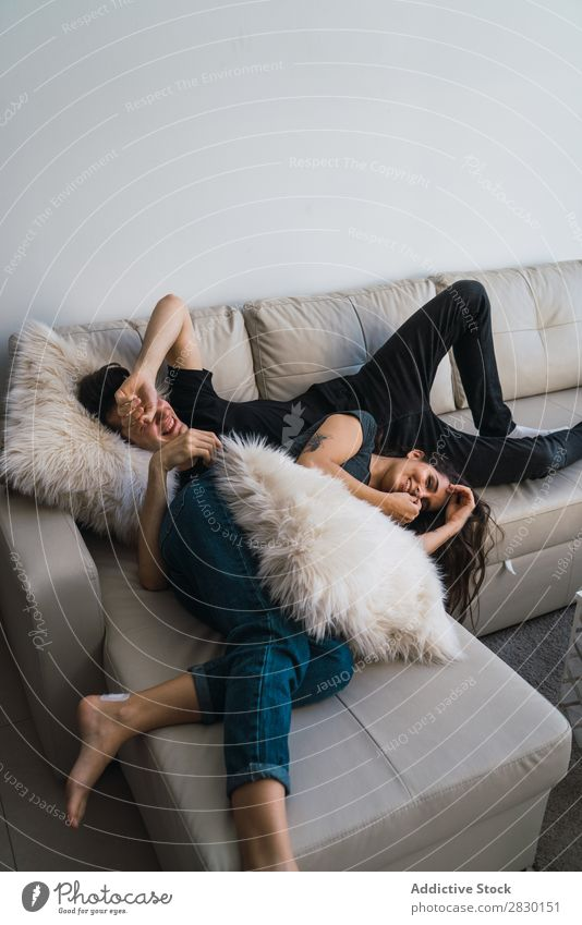 Couple lying on sofa Home Together Lie (Untruth) Sofa Couch Cozy Human being Happy Love House (Residential Structure) Man Woman Lifestyle 2 Youth (Young adults)