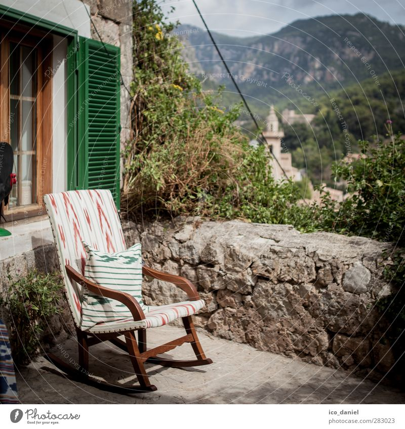 rest Well-being Vacation & Travel Tourism Trip Adventure Far-off places Summer Summer vacation Armchair Chair Landscape Hill Rock Mountain Valldemossa Spain