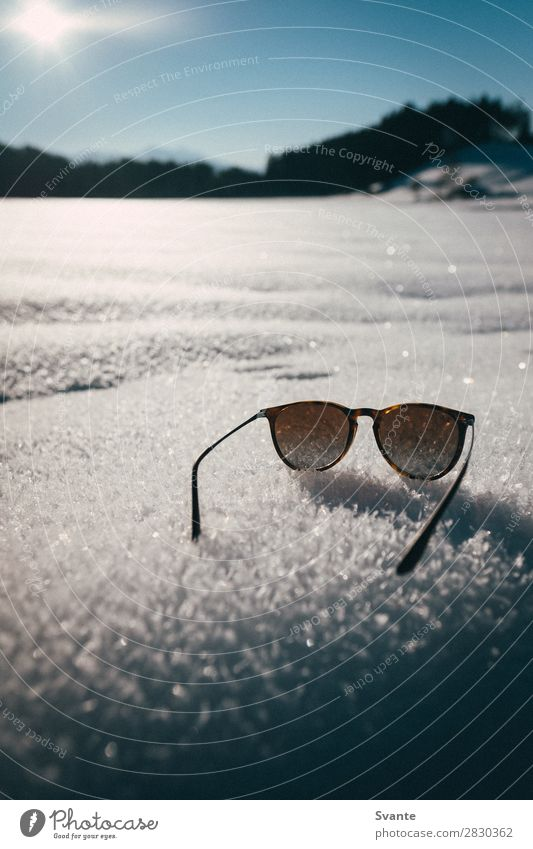 Sunglasses on snow Lifestyle Elegant Style Design Vacation & Travel Winter Snow Winter vacation Nature Beautiful weather Ice Frost Austria Esthetic Adventure