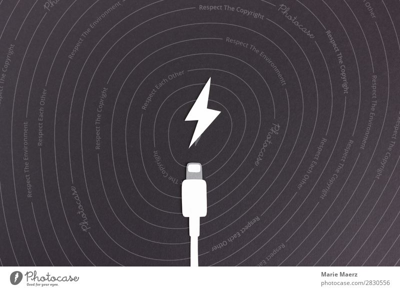 White Black Design Fresh Technology Power Empty Energy Speed Cool (slang) Electricity Simple New Cable Cellphone Make